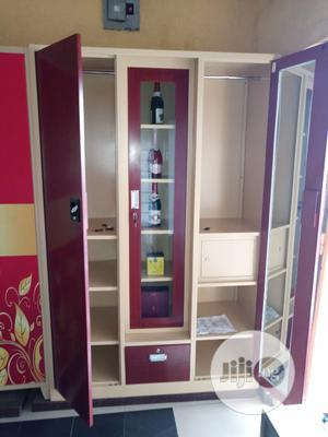 High Quality Full Height Metal Cabinet With Bar | Furniture for sale in Lagos State, Ikoyi