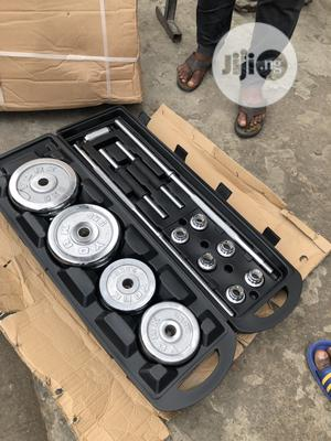 50kg Barbell With Dumbell Rod | Sports Equipment for sale in Lagos State, Lekki