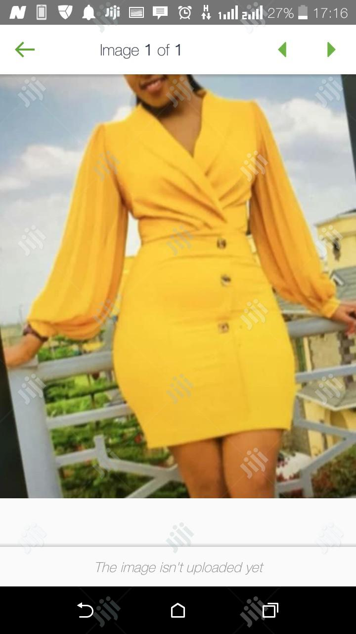 Ladies Short Fitted Gown | Clothing for sale in Ikeja, Lagos State, Nigeria