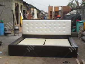 Leather Padded 6x6 Hdf Bed   Furniture for sale in Lagos State, Ajah