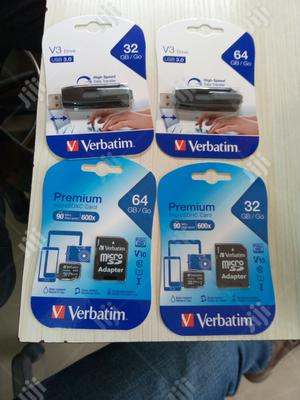 Verbatim Flash Drive And Phone Memory Card 32GB & 64GB | Accessories for Mobile Phones & Tablets for sale in Lagos State