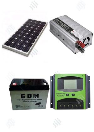 150W Solar Panel + 30A Controller + 12v 100AH Battery + 1000W Inverter   Solar Energy for sale in Lagos State, Lagos Island (Eko)