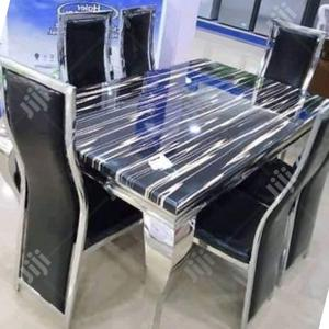 Good Quality Crystal Marble Dining Table   Furniture for sale in Lagos State, Amuwo-Odofin
