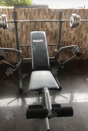 Weight Bench With 50kg Barbell | Sports Equipment for sale in Abuja (FCT) State, Asokoro