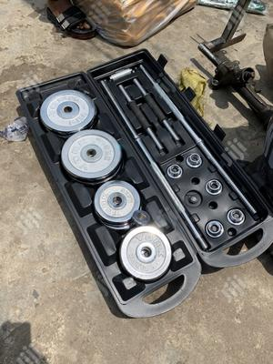 50kg Barbell With Dumbell And Box | Sports Equipment for sale in Enugu State, Enugu