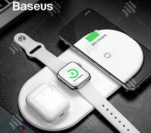 Baseus 3 in 1 Wireless Fast Charger   Accessories for Mobile Phones & Tablets for sale in Lagos State, Ikeja