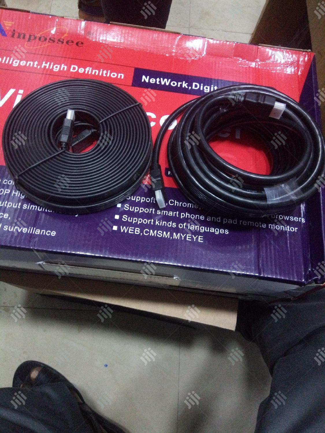 Hdmi To Hdmi Cable 15m Flat And Round