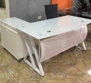 Glass Executive Office Tables With Extension and Mobile Drawers | Furniture for sale in Lagos State