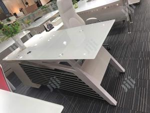 Glass Executive Office Tables 1.6mtrs With Extension And Drawers | Furniture for sale in Lagos State, Ikeja
