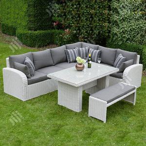 Stylish Garden Corner Rectangular Rattan Sofa   Manufacturing Services for sale in Lagos State, Ikeja