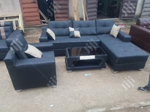 ELEGANT 6 SEATERS L -SHAPE SOFAS With Single and Center Table | Furniture for sale in Lagos State, Ajah