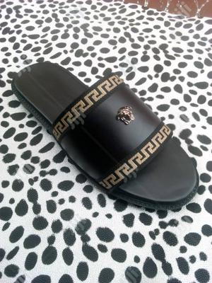 Authentic Palms Slippers Versace With Genuine Leather   Shoes for sale in Lagos State, Ikeja