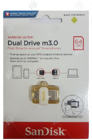 Sandisk 64GB Ultra OTG Dual USB Flash Drive 3.0   Computer Accessories  for sale in Lagos State, Ikeja