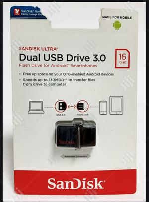 Sandisk Ultra OTG Dual USB Flash Drive 3.0 - 16GB   Computer Accessories  for sale in Lagos State, Ikeja