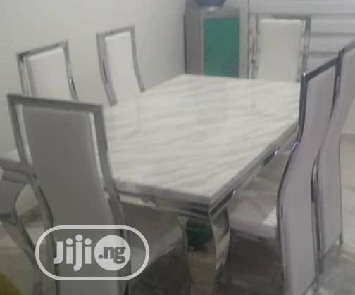 Archive: This Is High Brand New Six Seaters Dining Table White Colour