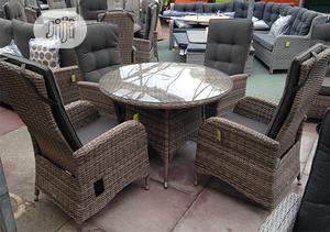 Beauteous Outdoor Rattan-Laced Dining Furniture   Furniture for sale in Lagos State, Ikeja