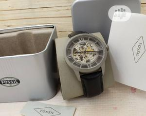 Fossil Skeleton Silver Leather Strap Watch | Watches for sale in Lagos State, Lagos Island (Eko)