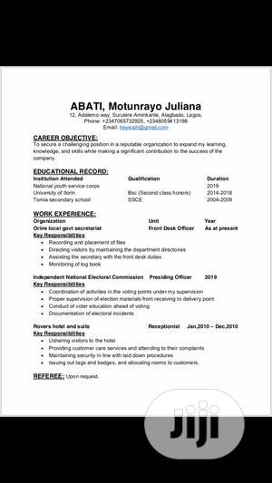 Customer Service CV   Customer Service CVs for sale in Lagos State, Ikeja