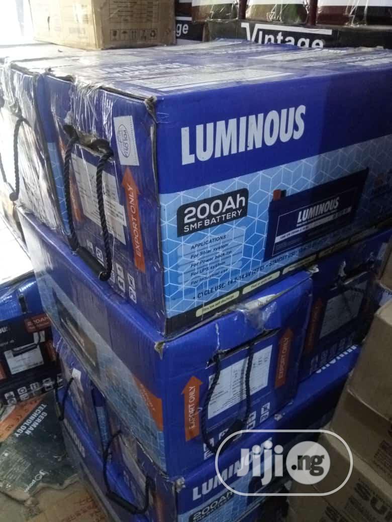 Archive: 200ah Luminous India Battery