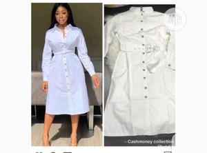 Ladies Midi Shirt Dress | Clothing for sale in Lagos State, Ikeja