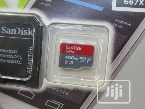Sandisk Ultra 400gb Micro SD Card 100mbps | Accessories for Mobile Phones & Tablets for sale in Ikeja, Lagos State, Nigeria