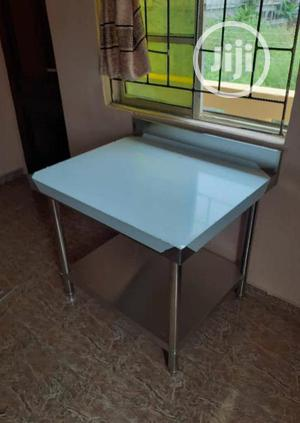 Quality Stainless Steel Working Table With Back Up And Down | Restaurant & Catering Equipment for sale in Osun State, Osogbo