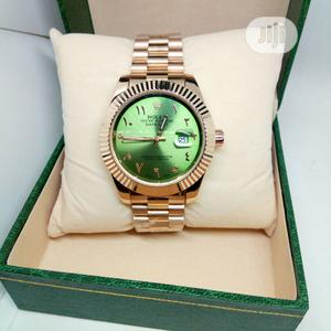 Rolex Arabic Perpetual Watch With Green Face - Rose Gold | Watches for sale in Lagos State, Ojodu