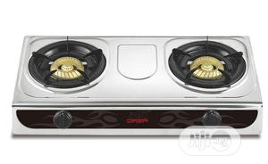Qasa Gas Cooker Tabletop Stainless 2burner | Kitchen Appliances for sale in Lagos State, Ojo