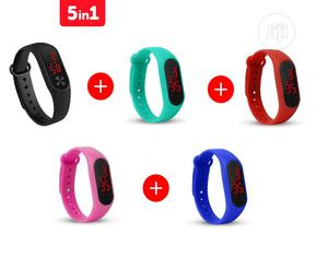 Fashion Silicone Bracelet Sport Digital LED Unisex Watch (5 Colors) | Watches for sale in Lagos State, Mushin