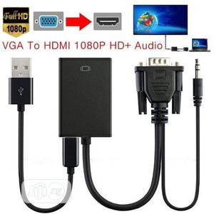 VGA HDMI Converter Adapter Cable With Audio Output 1080P   Accessories & Supplies for Electronics for sale in Lagos State, Ikeja