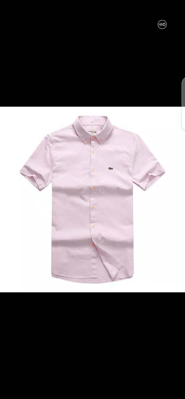 Lacoste Plain Packet Shirt Short Sleeve Original