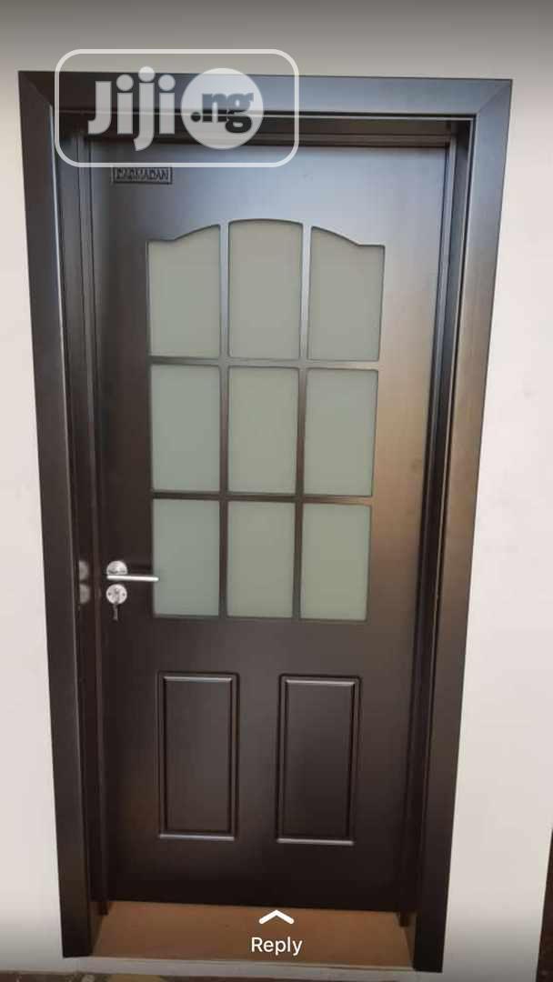 High Solid Wooden Glass Door