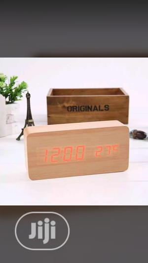 Wooden Table Clock   Home Accessories for sale in Lagos State, Surulere