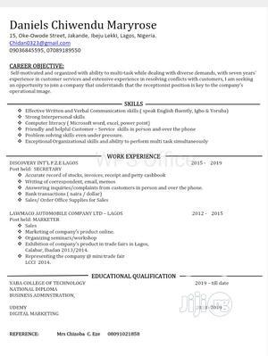 Sales Representative | Sales & Telemarketing CVs for sale in Lagos State, Ikoyi