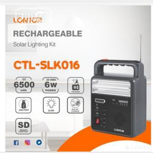 Lontor Rechargeable - Solar Lamp With Radio And SD Card Player | Solar Energy for sale in Lagos State, Mushin