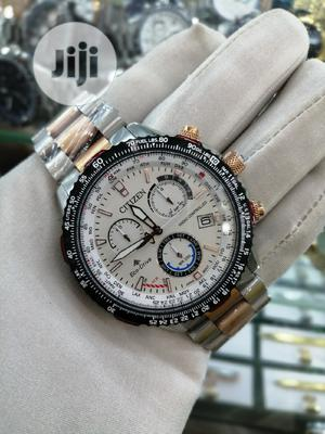 Citizen (Eco Drive) Chronograph Rose Gold/Silver Chain Watch | Watches for sale in Lagos State, Lagos Island (Eko)