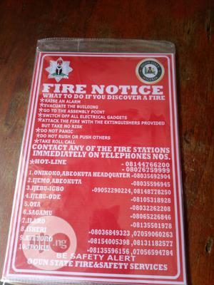 Ogun State Fire Notice Signage. | Safetywear & Equipment for sale in Lagos State, Orile