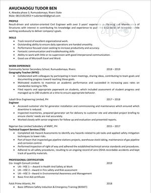 Health Safety And Environment Management Firm | Human Resources CVs for sale in Rivers State, Obio-Akpor