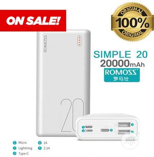 Simple-20 Romoss Complete 20,000mah Power Bank | Accessories for Mobile Phones & Tablets for sale in Lagos State, Ikeja