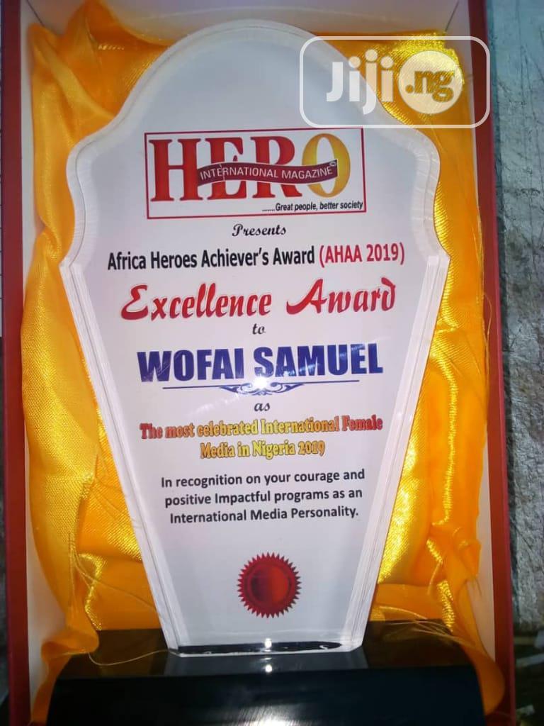 Archive: Acrylic Award