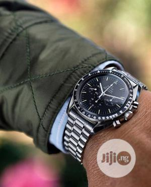 Omega Chronograph (SEAMASTER) Silver/Black Chain Watch | Watches for sale in Lagos State, Lagos Island (Eko)