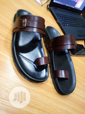 1st Class Brown Leather Palm, Slip On, Slippers, Sandals   Shoes for sale in Lagos State, Mushin