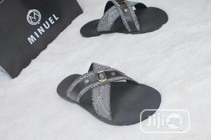 First Class Cross Palm Slippers, White and Black | Shoes for sale in Lagos State, Mushin