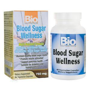 Bio Nutrition Blood Sugar Wellness 750mg -- 60 Veg Caps   Vitamins & Supplements for sale in Lagos State, Ipaja