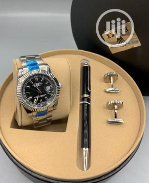 Rolex Oyster Perpetual Silver Chain Watch Pen and Cufflinks   Watches for sale in Lagos State, Lagos Island (Eko)