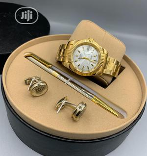 Rolex Oyster Perpetual Gold Chain Watch Pen and Cufflinks   Watches for sale in Lagos State, Lagos Island (Eko)