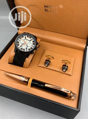 Montblanc Chronograph Leather Watch/Pen/ Cufflinks | Watches for sale in Lagos State, Lagos Island (Eko)