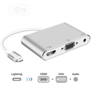 Lightning to HDMI VGA Audio 1080p Video Monitor Adapter | Accessories & Supplies for Electronics for sale in Lagos State, Ikeja