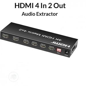 HDMI Matrix 4x2 UHD 4K 4 in 2 Out Switch Splitter | Accessories & Supplies for Electronics for sale in Lagos State, Ikeja