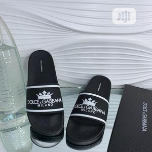 Dolce and Gabbana Pam Slippers Available in Black Order Yours Now | Shoes for sale in Lagos State, Lagos Island (Eko)